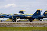 161943 @ KOQU - F/A-18A Hornet 161943 C/N 0150 from Blue Angels Demo Team  NAS Pensacola, FL - by Dariusz Jezewski www.FotoDj.com