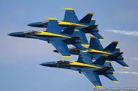 161967 @ KOQU - F/A-18A Hornet 161967 C/N 0183 from Blue Angels Demo Team  NAS Pensacola, FL