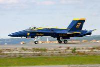 161975 @ KOQU - F/A-18A Hornet 161975 C/N 0194 from Blue Angels Demo Team  NAS Pensacola, FL