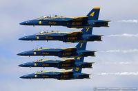 161746 @ KOQU - F/A-18B Hornet 161746 C/N 0103 from Blue Angels Demo Team  NAS Pensacola, FL