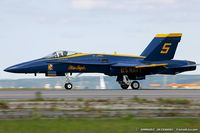 161963 @ KOQU - F/A-18A Hornet 161963 C/N 0178 from Blue Angels Demo Team  NAS Pensacola, FL