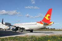 LZ-CMB @ LMML - Airbus A320 LZ-CMB waiting for delivery after being painted in Tianjin Airlines livery - by Raymond Zammit