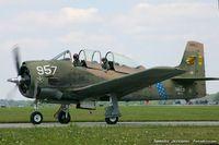 N28CU @ KYIP - North American T-28B Trojan  C/N 200302, N28CU