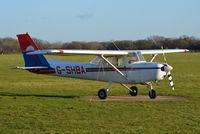 G-SHBA @ EGLD - Reims Cessna F152 at Denham. Ex OO-SHB - by moxy