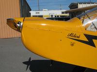N800NA @ KRHV - Close-Up nose with Alibird titles on Amelia Reid Aviation 2004 Zlin Savage Classic @ Reid-Hillview Airport (San Jose), CA home base