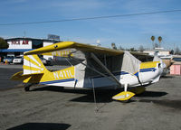 N411LR @ KRHV - Locally-based 1992 American Champion 8KCAB with cockpit cover @ Reid-Hillview Airport (San Jose), CA