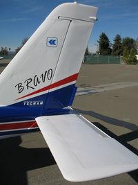 N146TB @ KRHV - Close-up tail of newly imported 2006 Tecnam P-2004 Bravo light sport @ Reid-Hillview Airport (San Jose), CA
