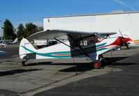 N999BA @ KRHV - 1977 Piper PA-18-150 Super Cub @ Reid-Hillview Airport (San Jose), CA