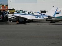 N27LH @ KRHV - Classic 1972 Beech A36 Bonanza with engine cowling door open @ Reid-Hillview Airport (San Jose), CA home base