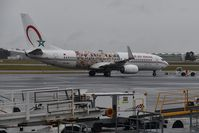 CN-RGF @ LFBD - rainy day, Royal Air Maroc (Wings of African Art Livery) departure to Casablanca - by JC Ravon - FRENCHSKY