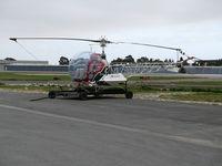 N4427F @ KSNS - Locally-based Gomes Farm Air 1970 Bell 47G-5 sprayer with Simplex titles @ Salinas Municipal Airport, CA