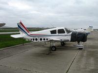 N8377R @ CVH - 1966 Piper PA-28-140 Cherokee minus wingtip and prop @ Hollister Municipal Airport, CA