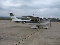 N7361Q @ CVH - Sharp looking 1972 Cessna 182P Skyhawk @ Hollister Municipal Airport, CA