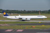 D-AIHW @ EDDL - Airbus A340-642 - LH DLH Lufthansa - 972 - D-AIHW - 17.08.2016 - DUS - by Ralf Winter