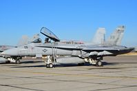 162396 @ KBOI - Parked on the south GA ramp.  VMFA-314 Black Knights, NAS Miramar, CA. - by Gerald Howard