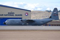 05-8158 @ KBOI - Taxiing on Bravo.  815th Airlift Sq. Flying Jennies, 403rd Airlift Wing, Keesler AFB, MS. - by Gerald Howard