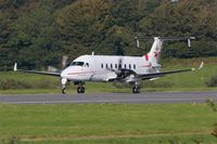 F-HBCC @ LFRB - Beech 1900D, Ready to take off rwy 25L, Brest-Bretagne Airport (LFRB-BES) - by Yves-Q