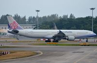 B-18312 @ WSSS - China Airlines A333 taxying for departure. - by FerryPNL