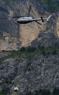 I-FRAT - Elitellina AS350 with its load close to the mountain. - by FerryPNL