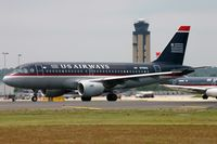 N758US @ KCLT - US AIrways A319 lining-up - by FerryPNL