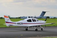 F-HKCK @ LFOA - Cirrus SR20, Taxiing to holding point rwy 24, Avord Air Base 702 (LFOA) Open day 2016 - by Yves-Q