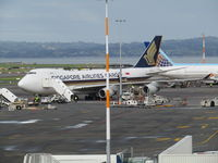 9V-SFK @ NZAA - on stand at AKL - by magnaman