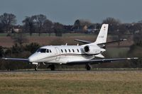 D-CGMR @ EGGW - Roleski 560 Citation Excel D-CGMR lining up for departure on 26 at London Luton - by dave226688