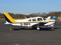 G-BMIV @ EGTB - Piper PA-28R-201T Turbo Cherokee Arrow III at Wycombe Air Park. Ex ZS-JZW