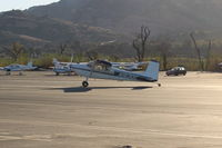 N1630C @ SZP - 1953 Cessna 180, Continental O-470 230 Hp, taxi off the active - by Doug Robertson