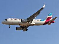 D-AEWE @ LEBL - Landing rwy 25R - by Shunn311