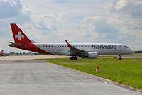HB-JVO @ EDDL - Embraer ERJ-190LR 190-100LR - 2L OAW Helvetic Airways - 19000294 - HB-JVO - 06.07.2016 - DUS - by Ralf Winter