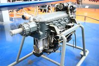 F-ANRO @ LFPB - Renault 6Q-10A engine, model fitted on Caudron Simoun, Air & Space Museum Paris-Le Bourget Airport (LFPB-LBG) - by Yves-Q