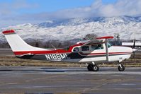 N186ML @ KBOI - Taxiing on Bravo for RWY 28L. - by Gerald Howard