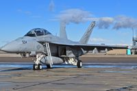 "168776 @ KBOI - Parked on the south GA ramp.  VAQ-131 ""Lancers"", CVN-77, USS George H.W. Bush. - by Gerald Howard"