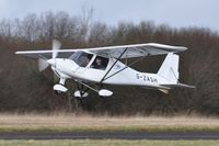 G-ZASH @ EGFH - Resident Ikarus C42 operated by Gower Flight Centre departing Runway 22.