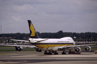 9V-SQL @ EHAM - Singapore Airlines Boeing 747-212B parked at Schiphol airport, the Netherlands, 1983 - by Van Propeller