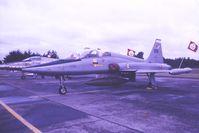 595 @ EBST - RNoAF F-5B 595 @ EBST Sept 1984 - by Guy Vandersteen