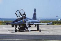 595 @ LFQI - RNoAF F-5B 595 @ LFQI Nato Tiger Meet june 1986 - by Guy Vandersteen