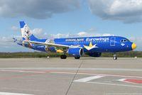 D-ABDQ @ EDDK - Airbus A320-214 - EW EWG Eurowings ex Air Berlin 'Europa Park Livery' - 3121 - D-ABDQ - 17.04.2017 - CGN - by Ralf Winter