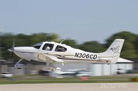 N306CD @ KOSH - Cirrus SR22 departing Airventure. - by Eric Olsen