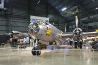 """44-27297 @ KFFO - On display at the National Museum of the U.S. Air Force.  """"Bockscar"""" was a Silverplate conversion, assigned to 393rd BS, 509th Composite Group.  It dropped the """"Fat Man"""" Plutonium atomic bomb on Nagasaki, its secondary target on Aug. 9, 1945."""
