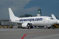 LY-AWG @ LOWW - Leased from bankrupt FlyLAL to the soon bankrupt SkyEurope. That airframe has a coloured history