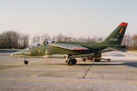AT05 @ EBST - BAF Alpha Jet AT-05 complete olive green color due to unavailablity of other colours (early nineties) - by Guy Vandersteen