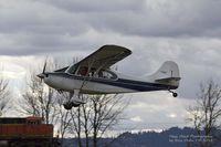 N857AC @ KVUO - Aeronca landing at Pearson Field - by Eric Olsen