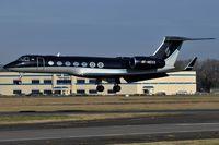 4K-MEK8 @ EGLF - Silk Way Airlines G550 landing at Farnborough - FAB - by dave226688