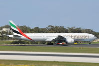 A6-EGP @ LMML - B777 A6-EGP Emirates Airlines - by Raymond Zammit
