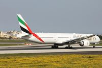 A6-ECA @ LMML - B777 A6-ECA Emirates Airlines - by Raymond Zammit