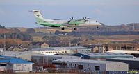 LN-WDL @ EGPD - Landing Aberdeen - by Clive Pattle