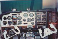 N136TP - Original cockpit of E-1176, circa 1984 - by Tom Carlson