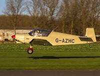 G-AZHC @ EGBR - Departing - by dave marshall